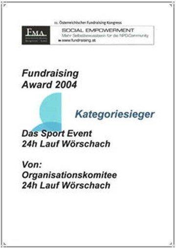 Award 2004 Lauf